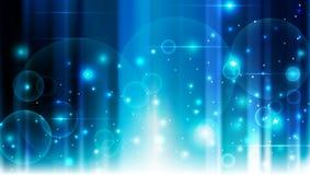 Linee astratte illustrazione blu dei cerchi del fondo Fotografia Stock