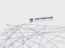 Linee astratte prospettiva di sovrapposizione della struttura su fondo bianco Fotografia Stock