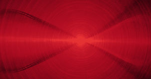 Linee astratte rosse fondo delle particelle delle curve Fotografie Stock