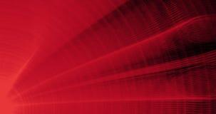 Linee astratte rosse fondo delle particelle delle curve Immagini Stock