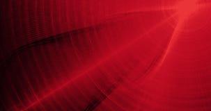 Linee astratte rosse fondo delle particelle delle curve Immagine Stock Libera da Diritti