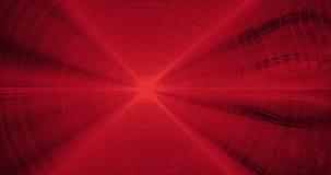 Linee astratte rosse fondo delle particelle delle curve Fotografie Stock Libere da Diritti