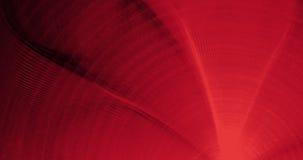 Linee astratte rosse fondo delle particelle delle curve Fotografia Stock