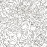 Linee in bianco e nero fondo di tiraggio della mano Fotografia Stock