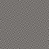 Linee in bianco e nero senza cuciture modello di vettore del labirinto Progettazione geometrica astratta del fondo delle bande illustrazione di stock