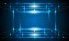Linee blu di tecnologia e fondo astratto Immagine Stock Libera da Diritti