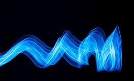 Linee bluastre curve Immagini Stock Libere da Diritti