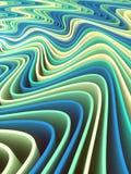 Linee colorate fondo astratto della banda di Digital Wave rappresentazione 3d Immagine Stock Libera da Diritti