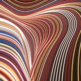 Linee colorate fondo astratto di Digital rappresentazione 3d Fotografia Stock