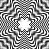 Linee concentriche con distorsione Linee radiali, irradianti picchiettio illustrazione vettoriale