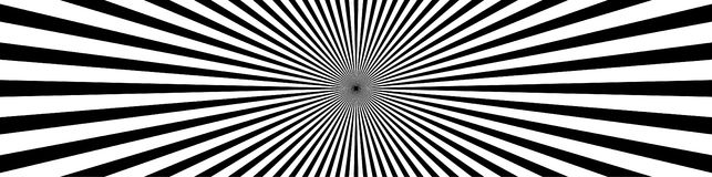 Linee convergenti, starburst, fondo dello sprazzo di sole nell'ampio formato Fotografia Stock