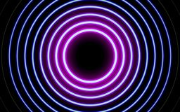 Linee d'ardore al neon, concetto magico della luce dello spazio di energia fotografie stock