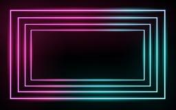 Linee d'ardore al neon, concetto magico della luce dello spazio di energia immagini stock libere da diritti