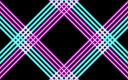 Linee d'ardore al neon, concetto magico della luce dello spazio di energia fotografia stock libera da diritti