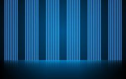 Linee d'ardore al neon, concetto magico della luce dello spazio di energia, progettazione astratta del fondo immagine stock