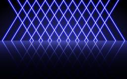 Linee d'ardore al neon, concetto magico della luce dello spazio di energia, progettazione astratta del fondo immagine stock libera da diritti