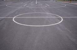 Linee del campo da pallacanestro fotografia stock