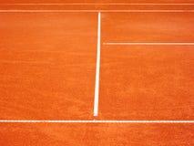 Linee 90 del campo da tennis Fotografie Stock Libere da Diritti