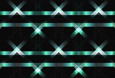 Linee del metallo che attraversano il testo brillante di tecnologia della luce di superficie di concetto illustrazione di stock