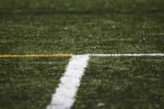 Linee del ` s del campo di calcio Immagini Stock Libere da Diritti