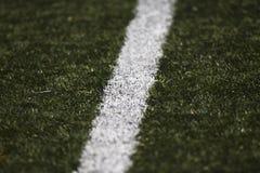 Linee del ` s del campo di calcio Fotografia Stock