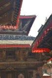 Linee del tetto del tempio Fotografie Stock