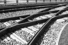 Linee del tram Immagine Stock Libera da Diritti