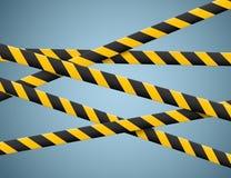 Linee di cautela isolate Nastri d'avvertimento E Illustrazione di vettore Fotografie Stock Libere da Diritti