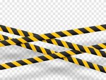 Linee di cautela isolate Nastri d'avvertimento E Illustrazione di vettore Immagini Stock Libere da Diritti