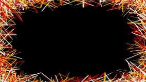 Linee di colore differenti astratte su fondo nero illustrazione vettoriale