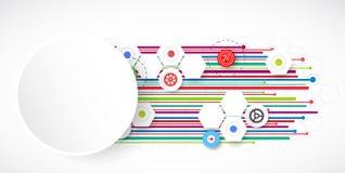 Linee di colore fondo dell'estratto di tecnologia illustrazione vettoriale