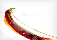 Linee di colore porpora ed arancio illustrazione vettoriale
