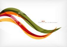 Linee di colore porpora ed arancio illustrazione di stock