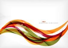 Linee di colore porpora ed arancio royalty illustrazione gratis