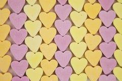 Linee di cuori di Candy Immagini Stock