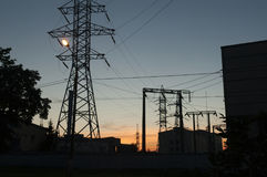 Linee di elettricità Immagine Stock Libera da Diritti
