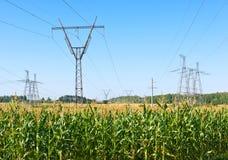 Linee di energia elettrica Fotografia Stock Libera da Diritti