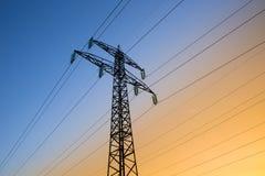 Linee di energia elettrica Immagine Stock
