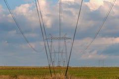 Linee di energia elettrica torre Fotografie Stock