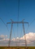 Linee di energia elettrica torre Fotografie Stock Libere da Diritti
