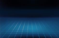 Linee di griglia astratte grafiche del fondo sul pianterreno blu Immagine Stock Libera da Diritti