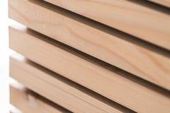 Linee di legno abstact moderno di interior design Fotografia Stock Libera da Diritti