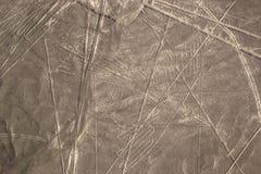 Linee di Nazca in deserto peruviano Immagine Stock