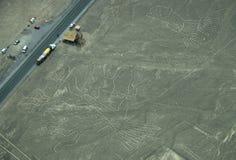 Linee di Nazca: La posta di osservazione Fotografia Stock
