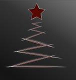 Linee di taglio della carta dell'albero di Natale Fotografie Stock