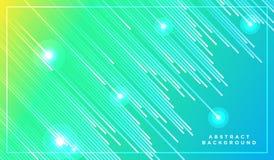 Linee diagonali di vettore delle bande che cadono con l'ombra e l'illustrazione leggera d'ardore Spazio e stelle su fondo giallo  immagini stock libere da diritti