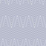 Linee diagonali semplici, bande, forme di zigzag Fondo lineare moderno Serenità blu e colori bianchi illustrazione vettoriale