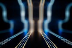 Linee digitali creative Immagine Stock
