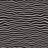 Linee disegnate a mano dell'ondulazione ondulata Progettazione geometrica astratta del fondo Vector il reticolo senza giunte Fotografie Stock