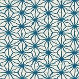 Linee distorte disegnate a mano modello di colore bianco senza cuciture della marina di vettore di lerciume di forma della stella Fotografia Stock